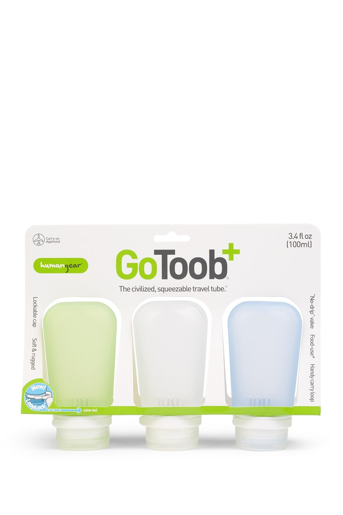 Go Toob Large 3.4 Ounce Travel Bottle Set