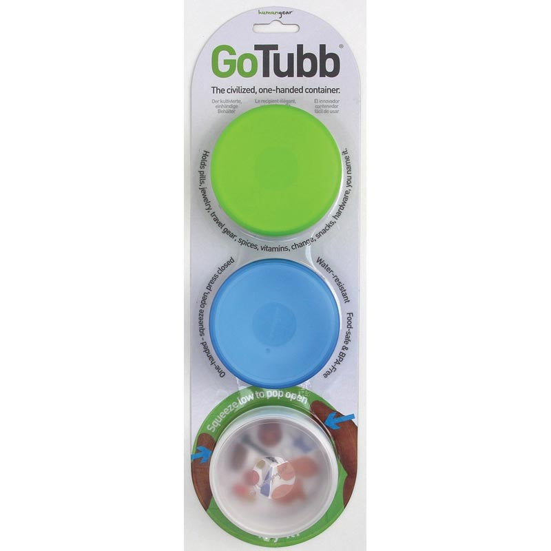 "GoTubb Medium 3.0"" 3 Pack of Travel Storage Containers"