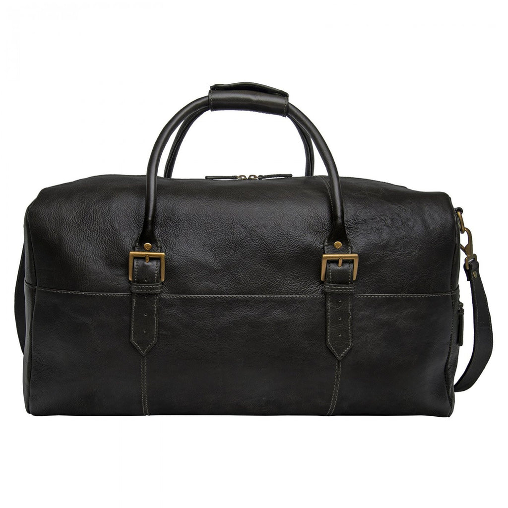 "Hidesign Leather 20"" Carry-on Cabin Duffel Black"