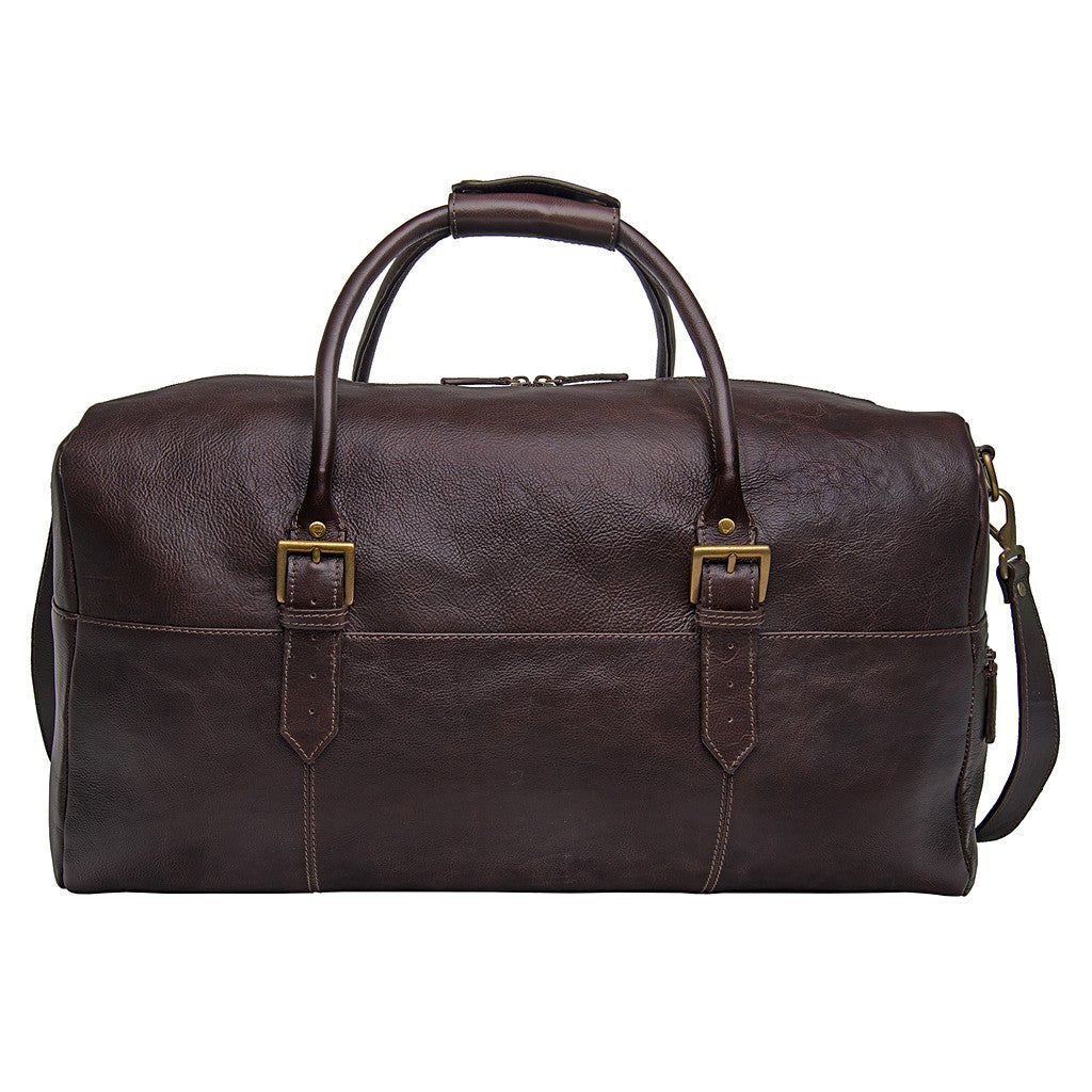 "Hidesign Leather 20"" Carry-on Cabin Duffel Brown"