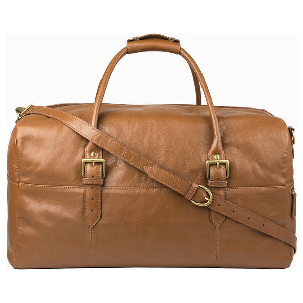 "Hidesign Leather 20"" Carry-on Cabin Duffel Tan"