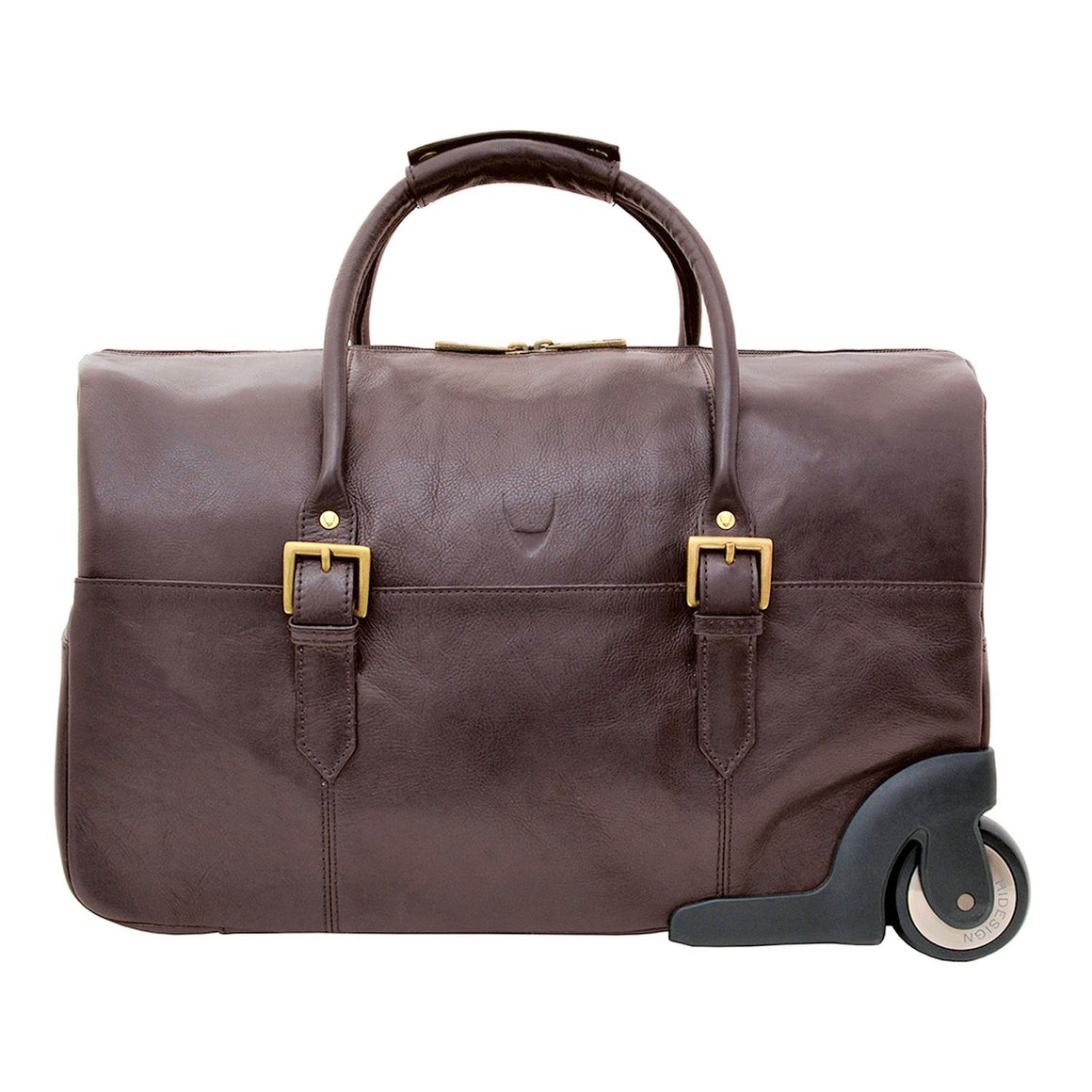 "Scully Hidesign Leather 20"" Wheeled Duffel Bag"
