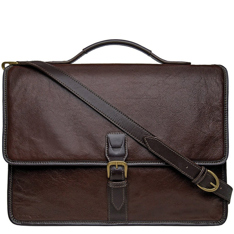 Hidesign Harrison Laptop Briefcase Brown