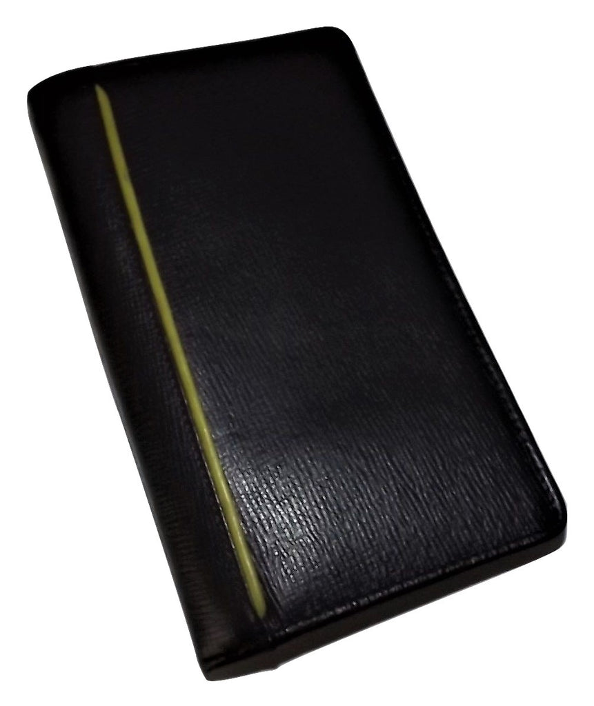 Hidesign Leather Breast Pocket Passport Travel Wallet Black