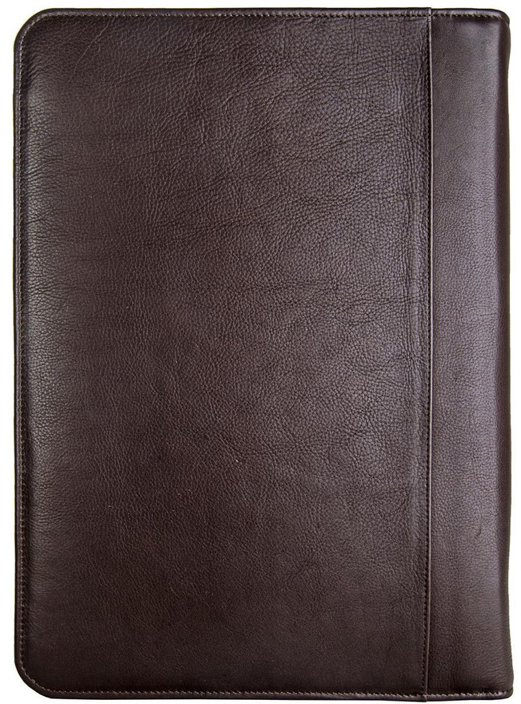 Hidesign Leather Zip File Folder Padfolio Brown