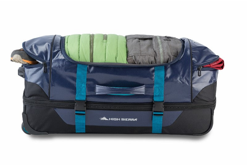 "High Sierra Kennesaw 30"" Drop Bottom Wheeled Duffel Navy"