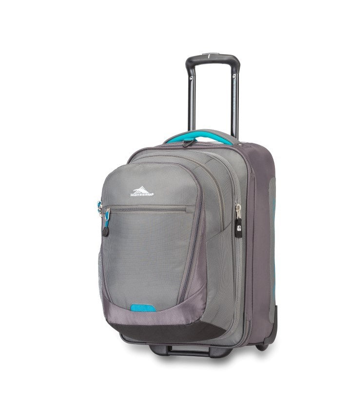 High Sierra Winslow Carry-on Luggage with Removable Day Pack Ash