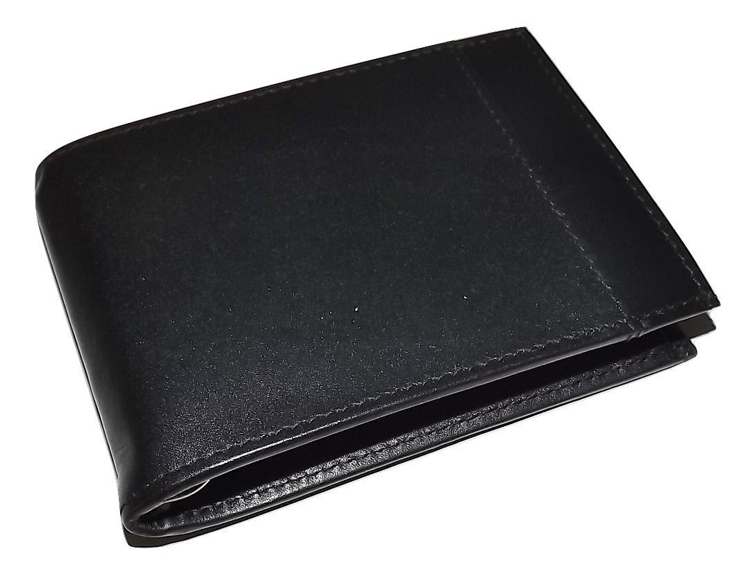 Italia Leather Men's RFID Protected Bifold Wallet with Interior Money Clip