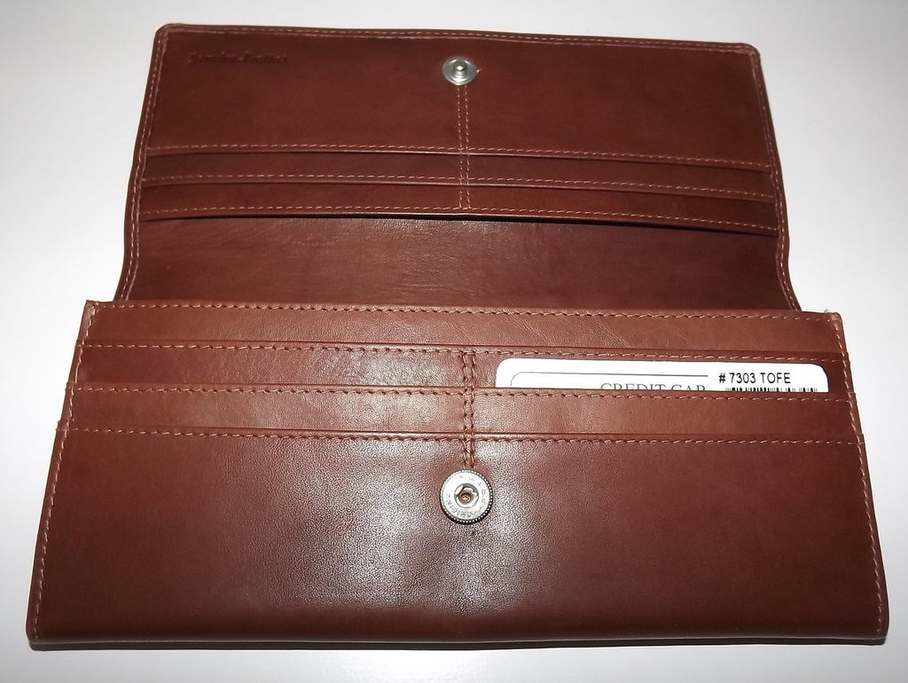 Italia Leather Slim RFID Protected Clutch Wallet Toffee