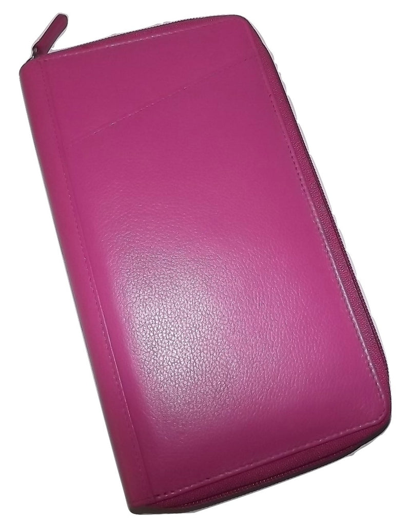Italia Leather Passport Travel Wallet Pink