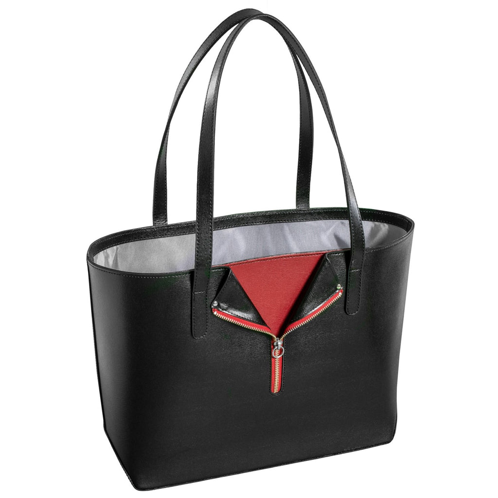 Jack Georges Leather Chelsea Tote Bag Black