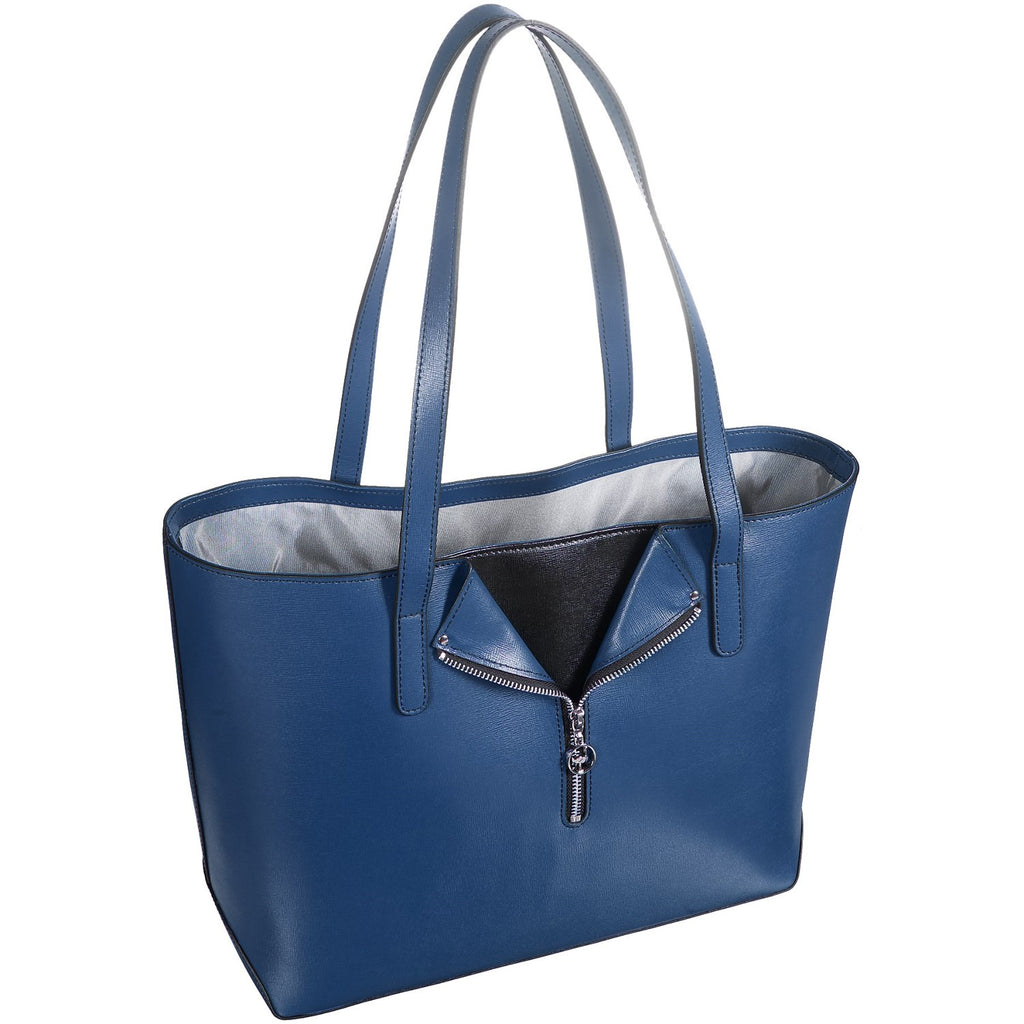 Jack Georges Leather Chelsea Tote Bag Denim