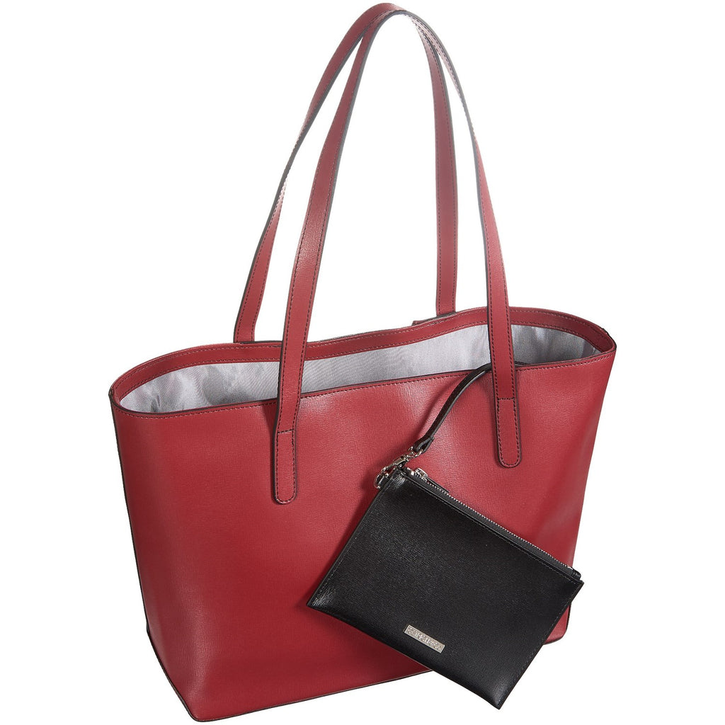 Jack Georges Leather Chelsea Tote Bag Red