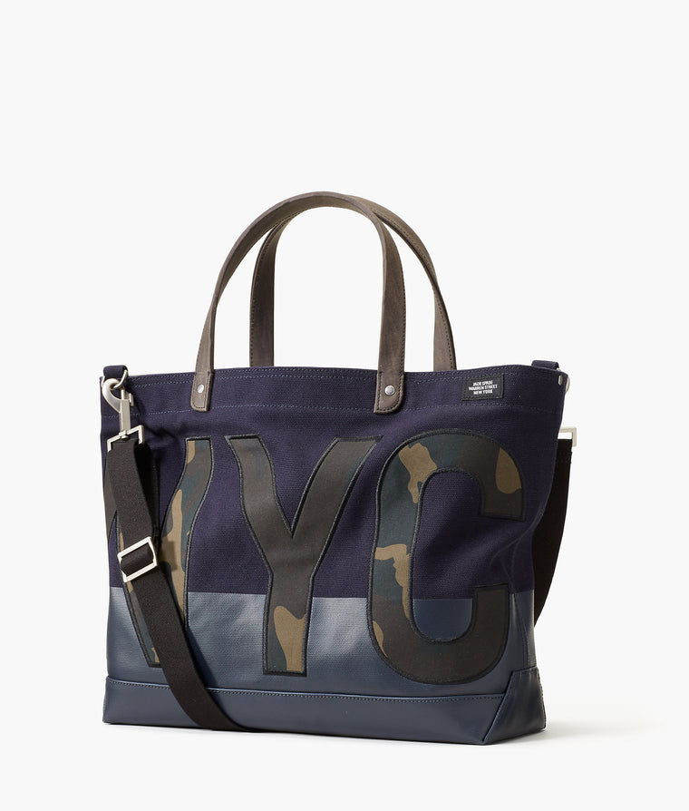 Jack Spade NYC Camo Canvas Coal Bag Dark Navy