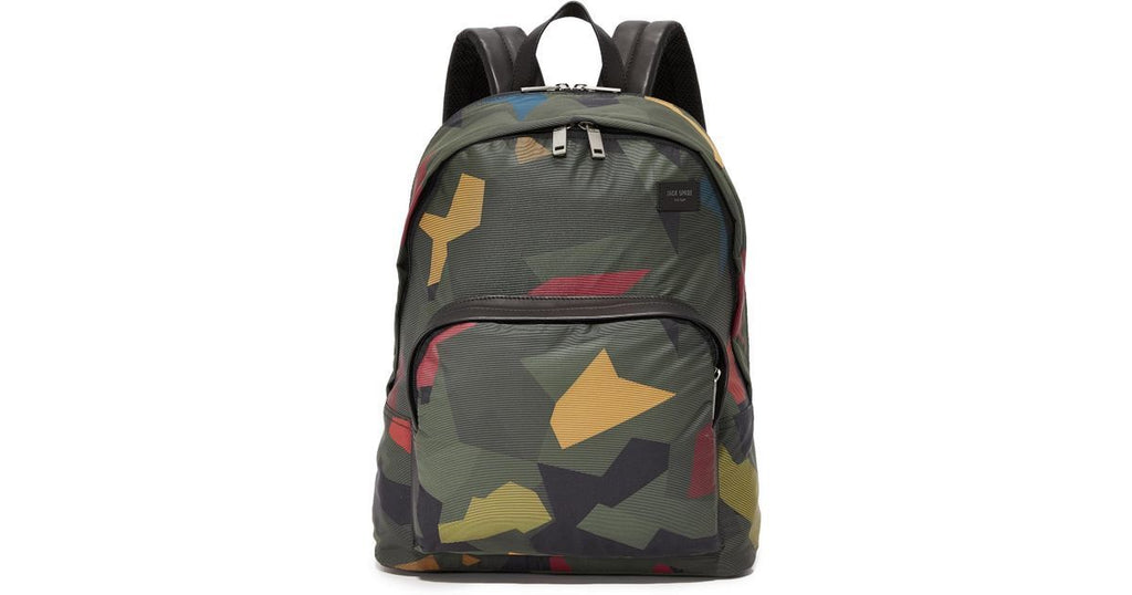 Jack Spade Twill Laptop Backpack Kaleidescope