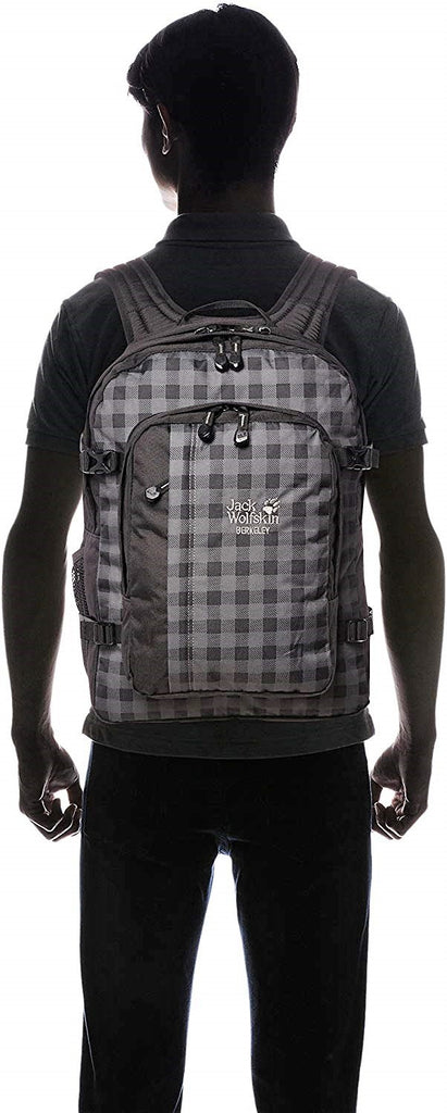Jack Wolfskin Berkeley Backpack Dark Steeel Plaid