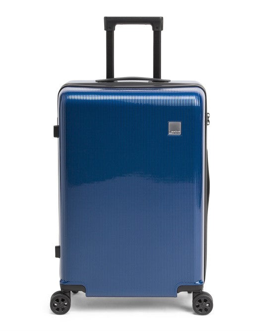 "Lantrn LED Locking Hardside 26"" Spinner Luggage Blue"