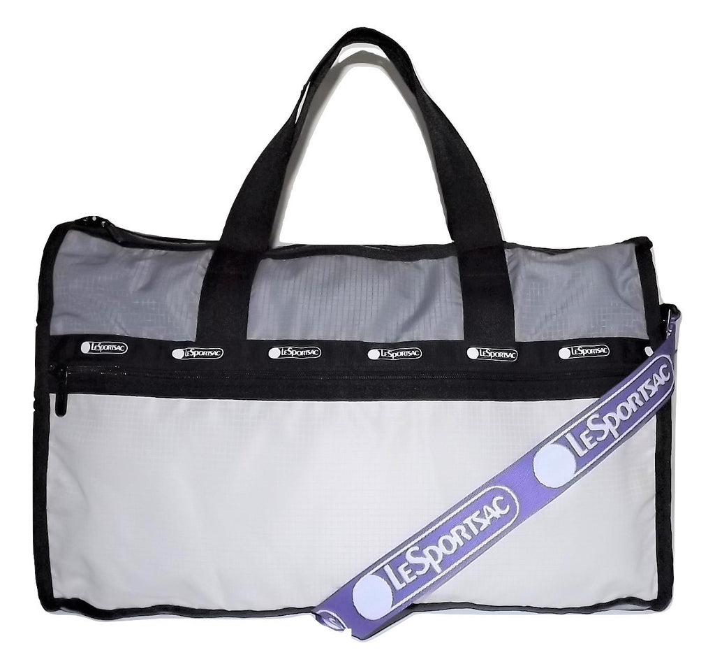 Lesportsac Classic Weekender Duffel Bag Grey Color Block