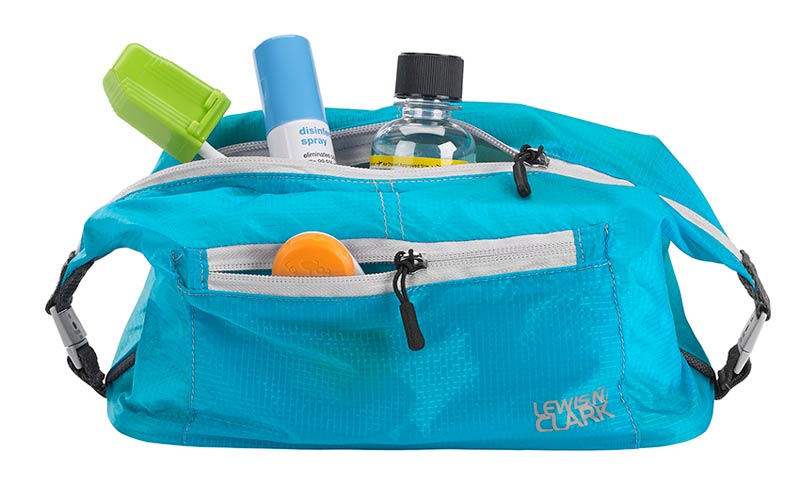 Lewis N Clark Electrolight Lightweight Nylon Toiletry Kit Blue