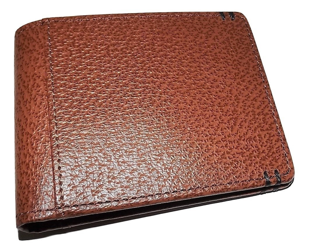 Lodis Leather RFID Protected Bifold ID Wallet Chestnut