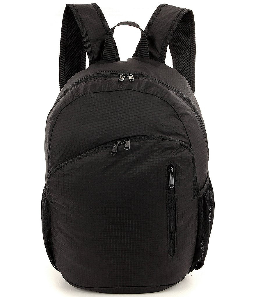 "Luggage America Packable 17"" Lightweight Backpack Black"