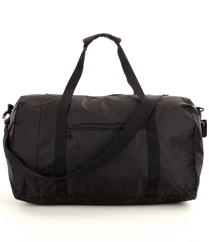 "Luggage America 20"" Packable Carry-on Size Nylon Duffel Luggage Black"