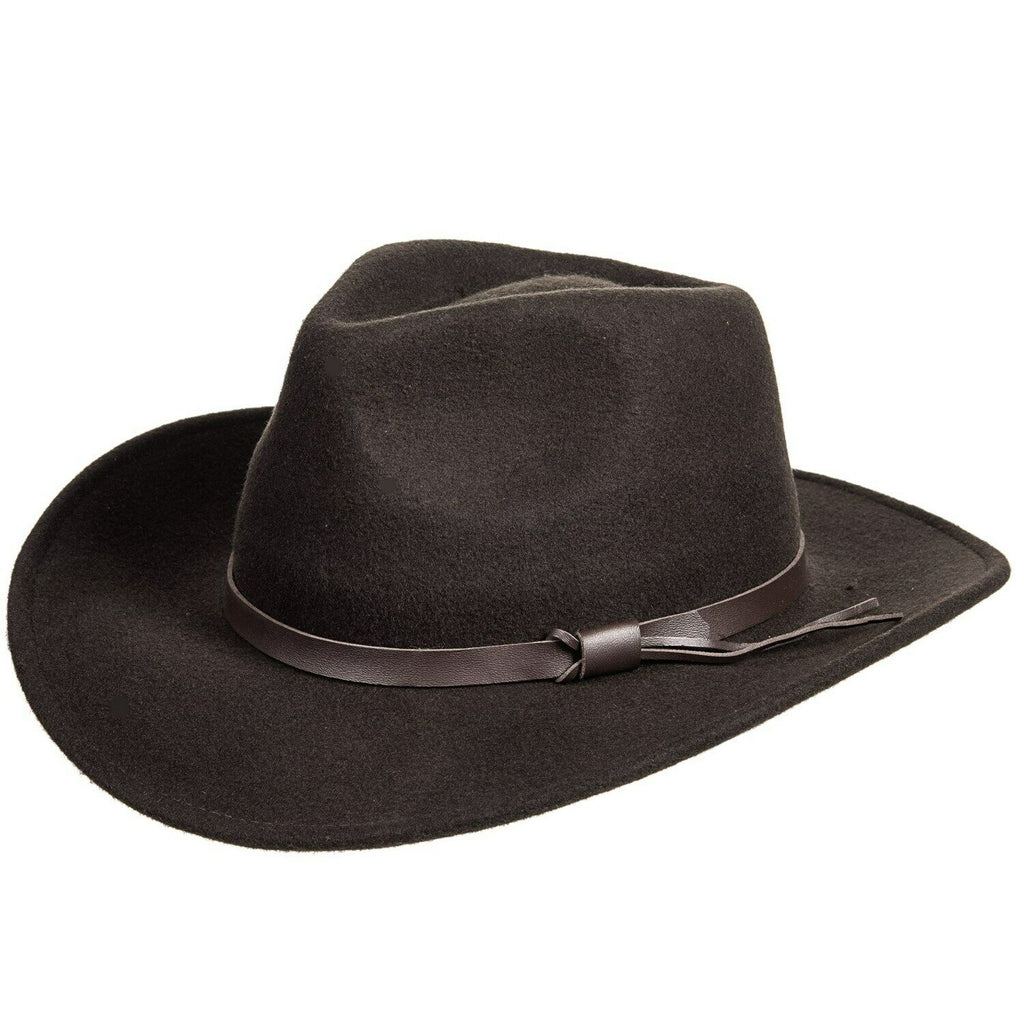 Magellan Outdoors Crushable Felt Outback Hat Brown