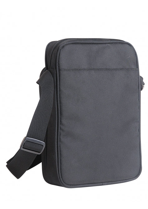 Mancini RFID Blocking Ballistic Nylon Tablet Bag Crossbody Bag Black
