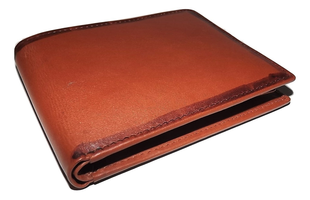 Mancini Belting Leather RFID Protected Bifold 6 Pocket Wallet Cognac