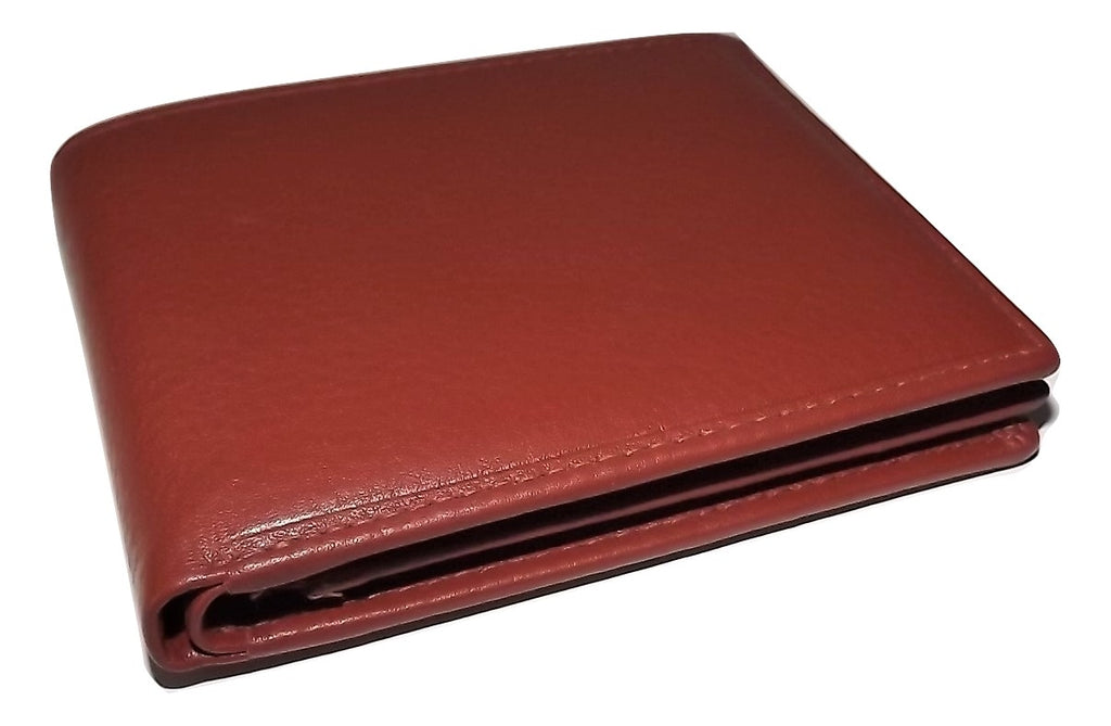 Mancini Bifold Center Flip 13 Pocket Wallet Cognac