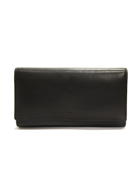Mancini RFID Secure Large Clutch Wallet Black/Red