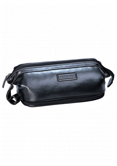 Mancini Toiletry Kit with Manicure Set Black