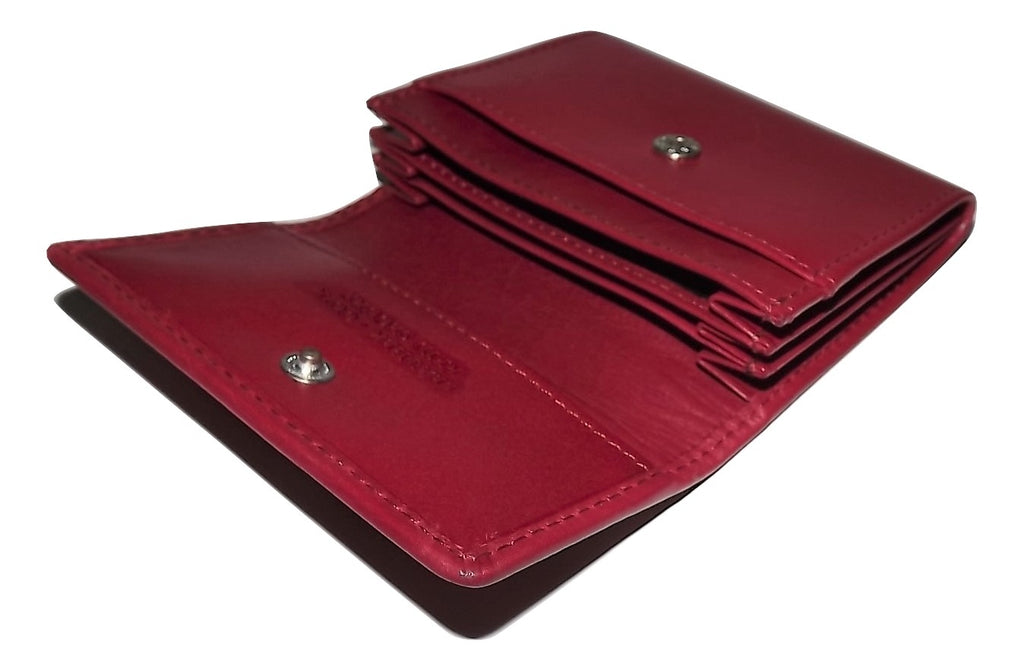 Mancini Accordion Credit Card Case Wallet Red