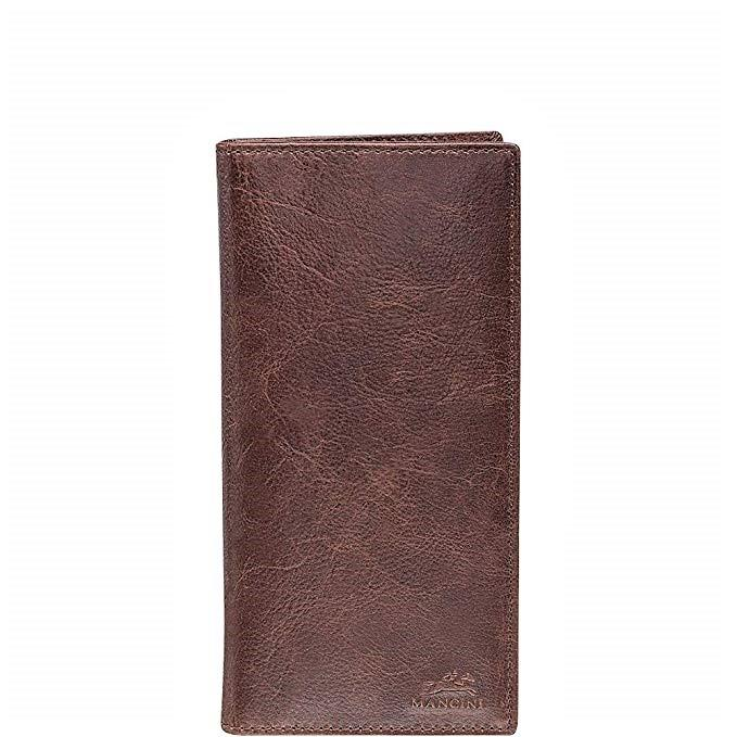 Mancini Leather Breast Pocket Secretary Wallet Brown