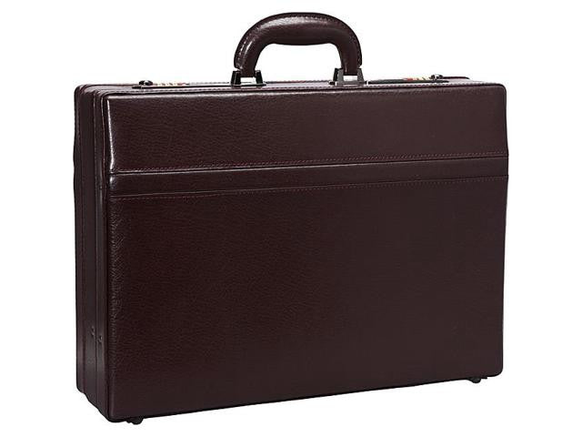 "Mancini Leather Expandable 15.6"" Laptop Attache' Case with Organizer Panel"