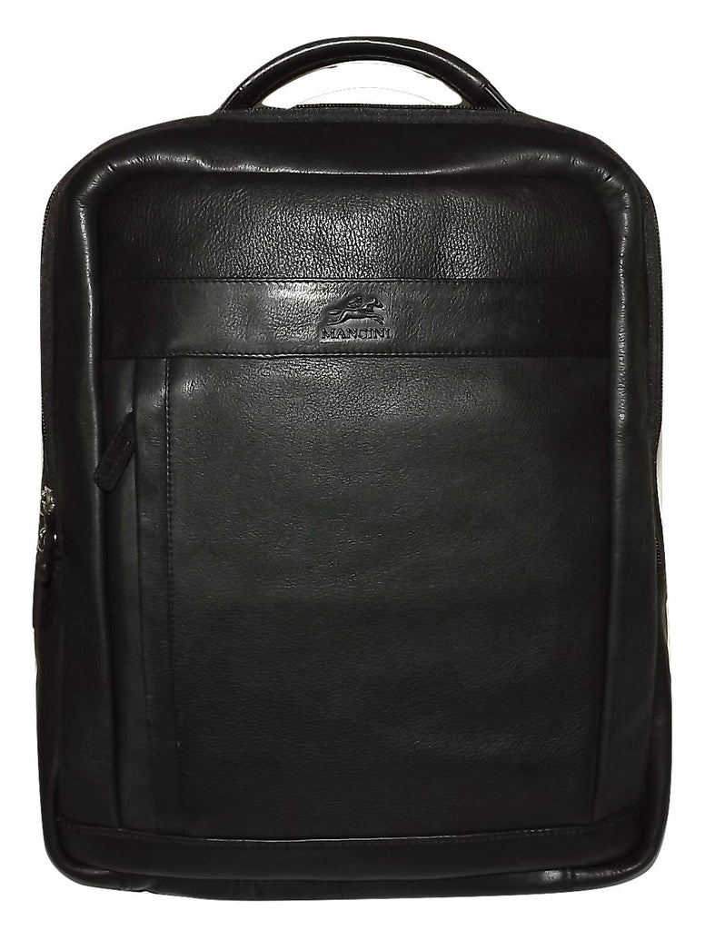 Mancini Leather RFID Secure Laptop Tablet Business Backpack