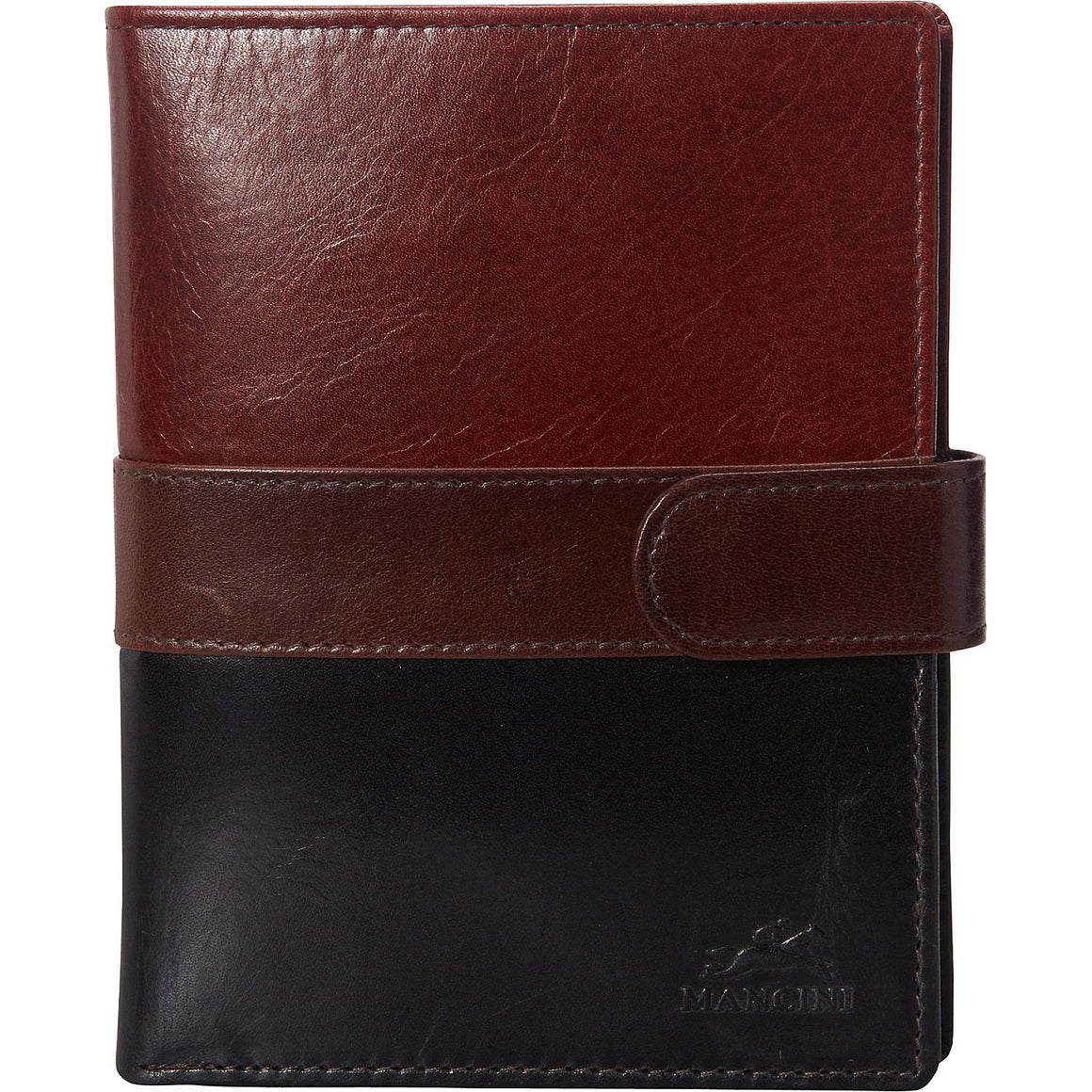 Mancini Leather Nevada RFID Secure Passport Travel Wallet