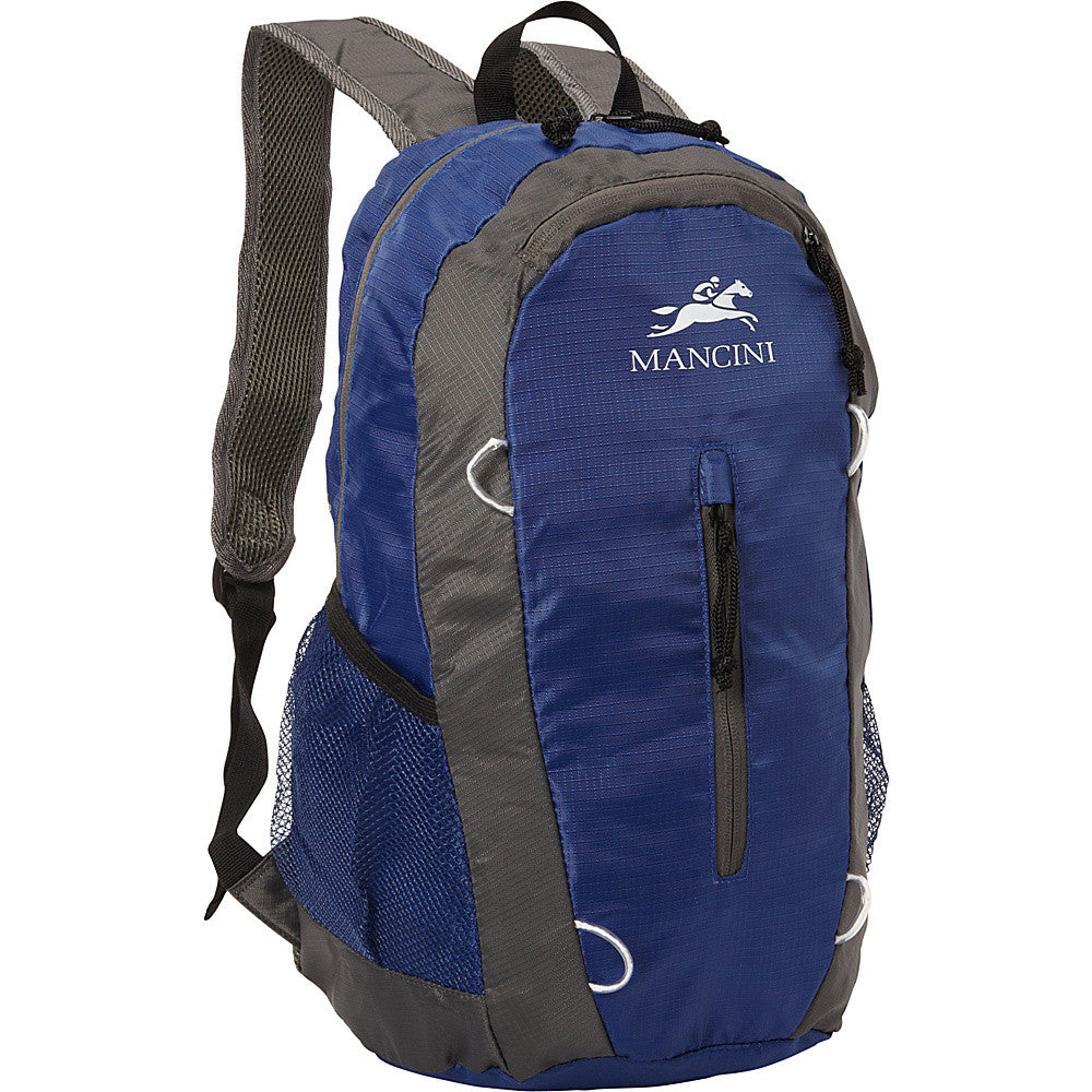 Mancini Pack Em In Packable Lightweight Travel Backpack with Storage Pouch