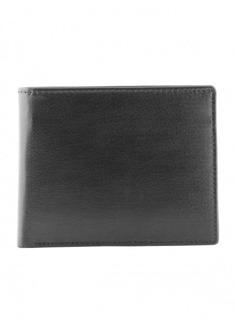 Mancini Leather Men's Bifold Passcase Credit Card ID Wallet Black