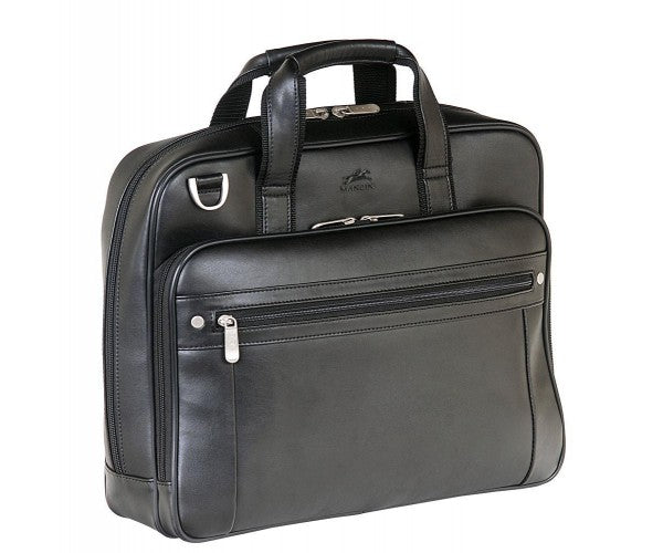 Mancini Leather 5th Avenue Dual Compartment Laptop Briefcase