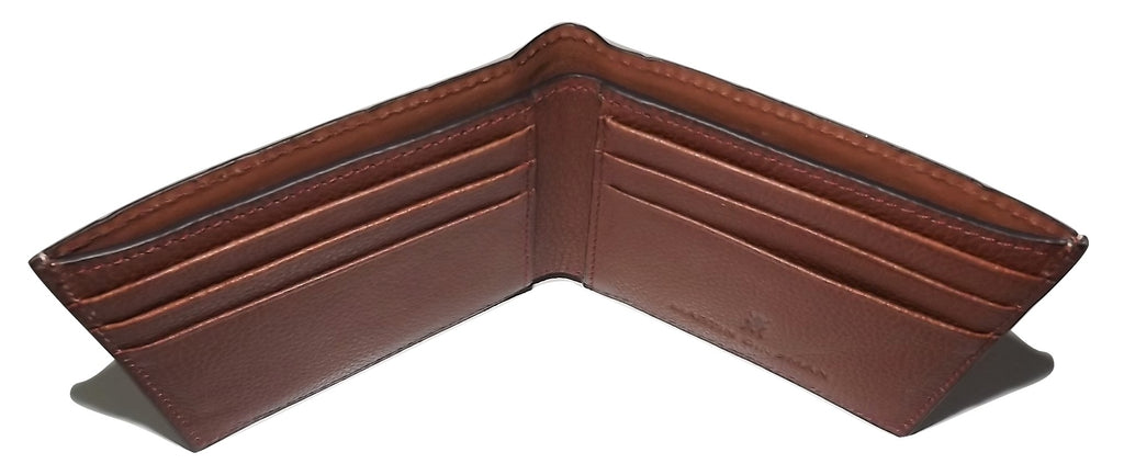 Martin Dingman Men's Leather Croc Embossed Bifold 6 Pocket Wallet