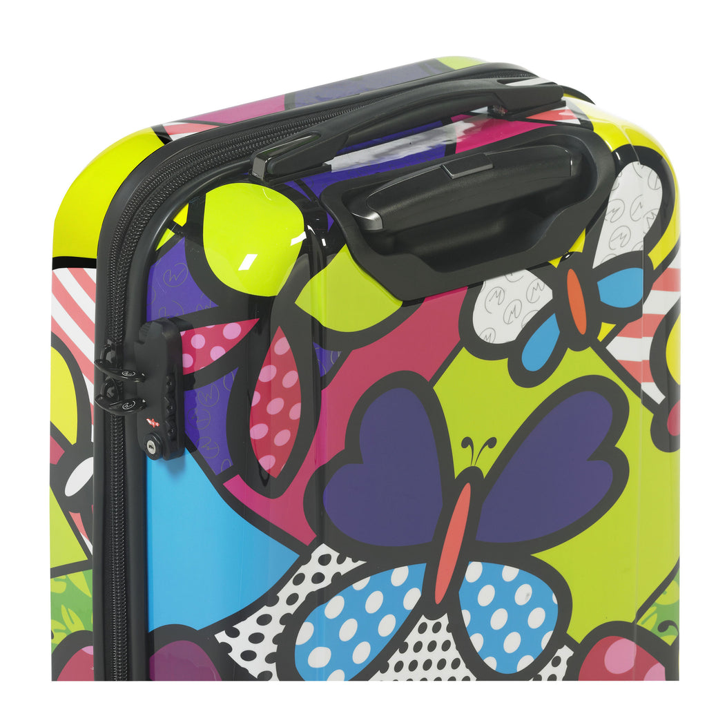 "Mia Toro Butterflies 28"" Expandable Hardside 4 Wheel Spinner Luggage"