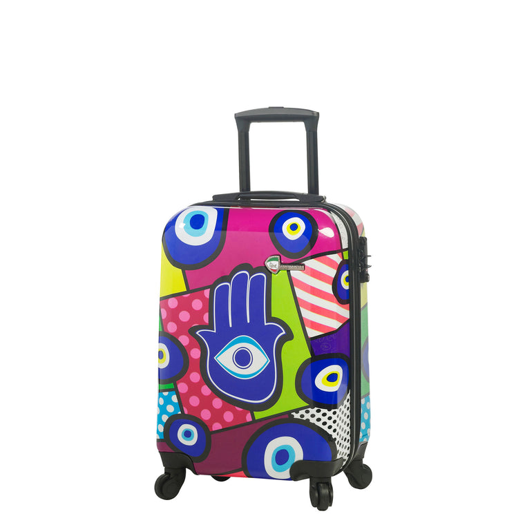 "Mia Toro Hamsa 28"" Expandable Hardside 4 Wheel Spinner Luggage"