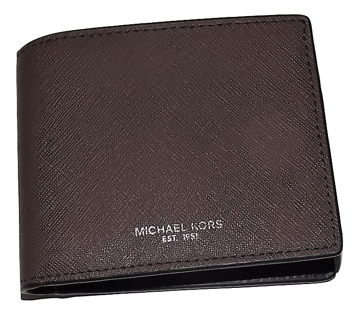 Michael Kors Andy Bifold 6 Pocket Wallet Brown