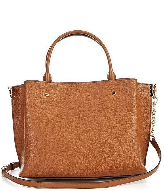 Michael Kors Arielle Triple Compartment Leather Large Satchel