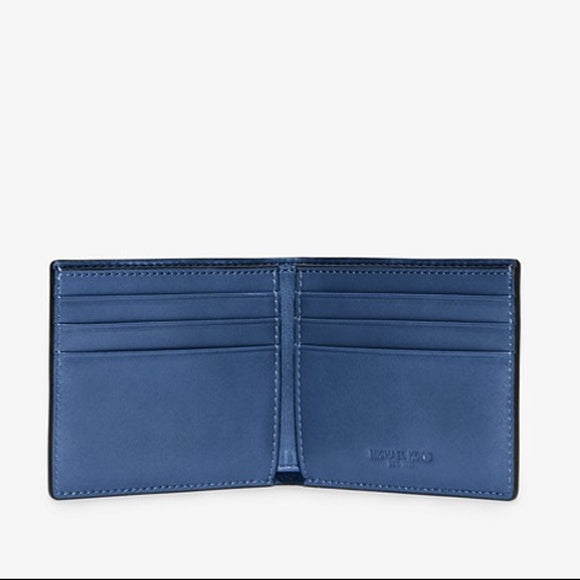 Michael Kors Harrison 6 Pocket Wallet Blue