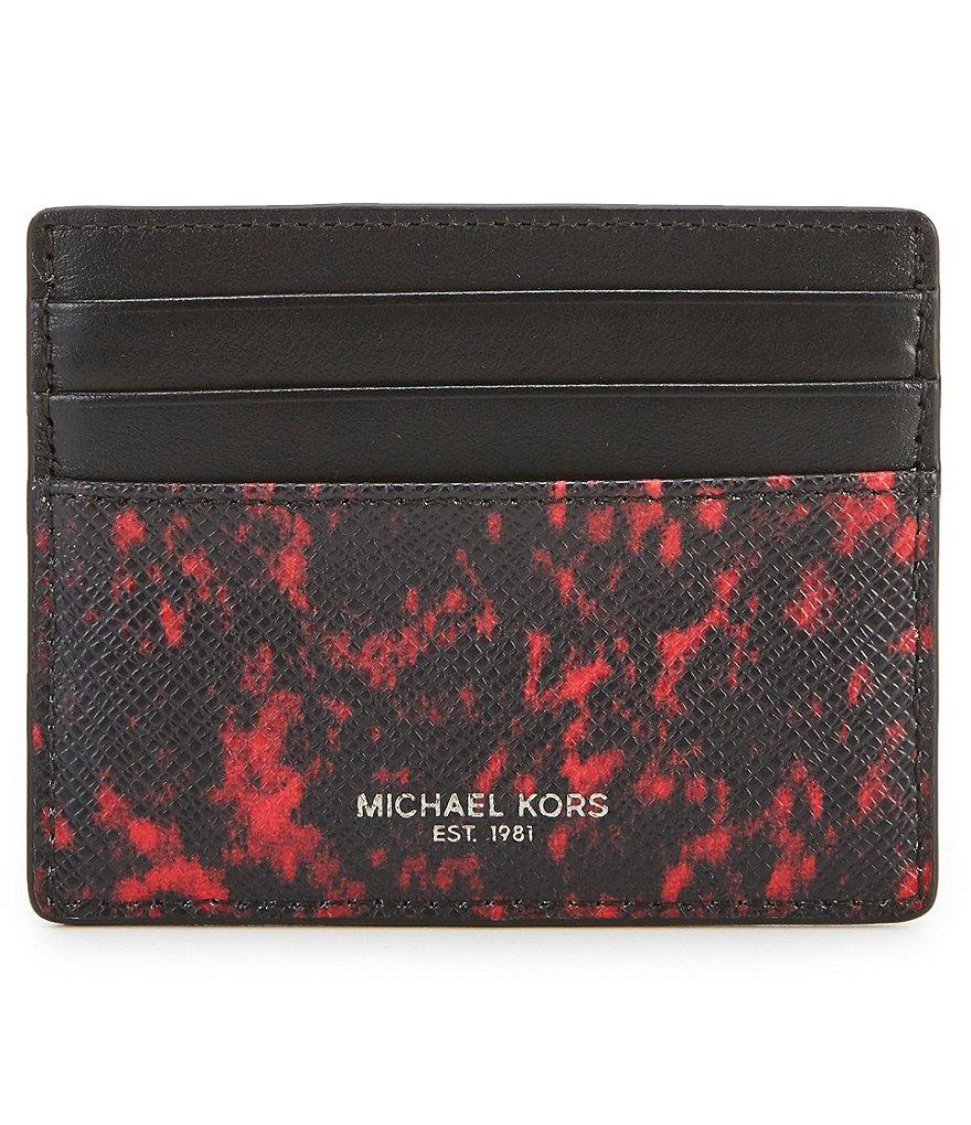 Michael Kors Kent Card Case Red
