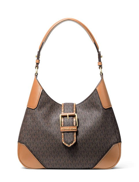 Michael Kors Lillian Buckle Hobo Brown/Acorn