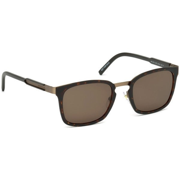 Mont Blanc Rectangle Sunglasses Brown Lens Tortosie Frame MB591SF
