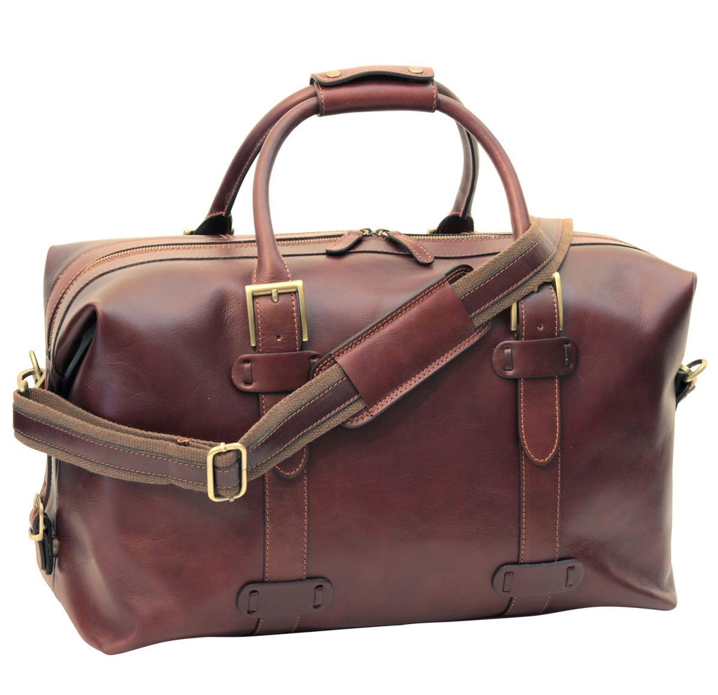 "Old Angler Firenze Leather 20"" Duffel Bag"